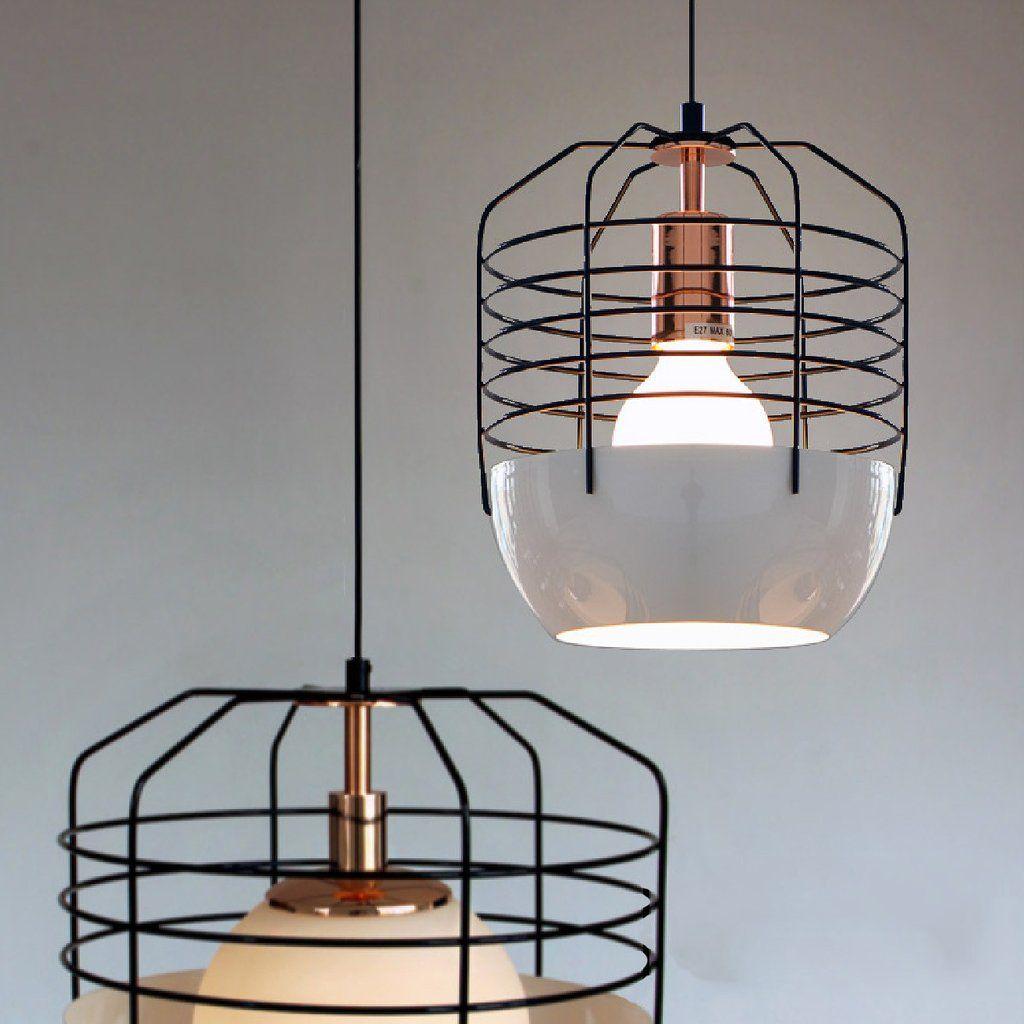 Gatsby Artdeco Style Cage Pendant Light. Classic Retro Style Ceiling ...