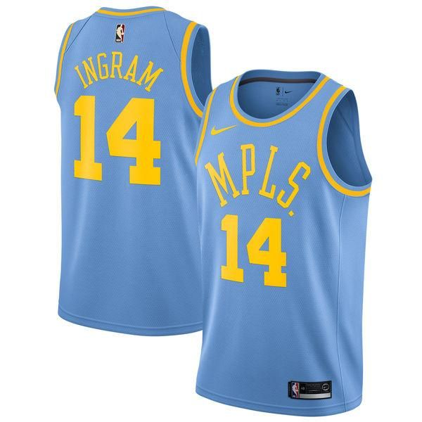 d4be7889f Men 14 Brandon Ingram Jersey Blue Los Angeles Lakers MPLS Fanatics ...