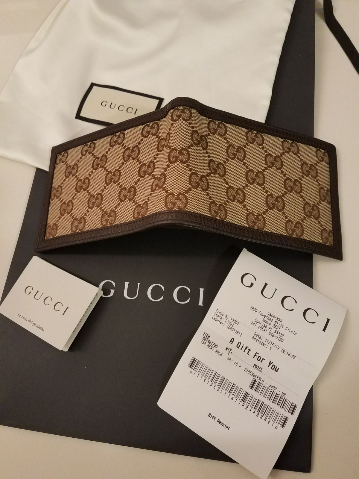 Authentic Gucci Wallet Gg Guccissima On Mercari Gucci Wallet Gucci Gucci Gifts