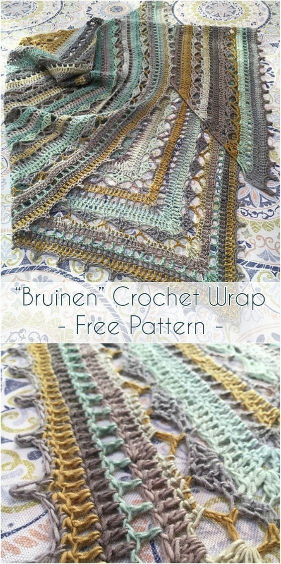"""Bruinen"""" Crochet Wrap [Free Pattern   Crochet wrap pattern, Wrap ..."""