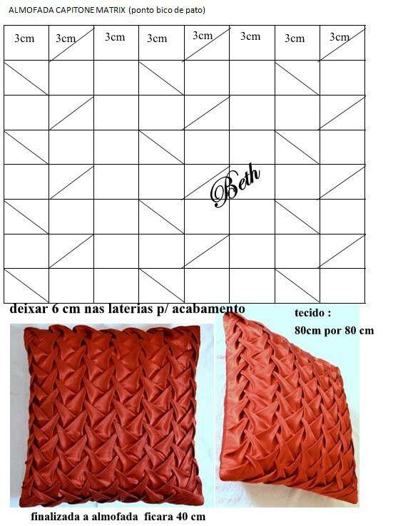 Almohada | Patrones de costura | Pinterest | Cojines, Moldes y Bordado