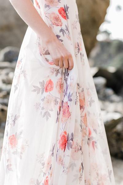a2ecaebe4dc Payton Ivory Floral Flowy Maxi Dress