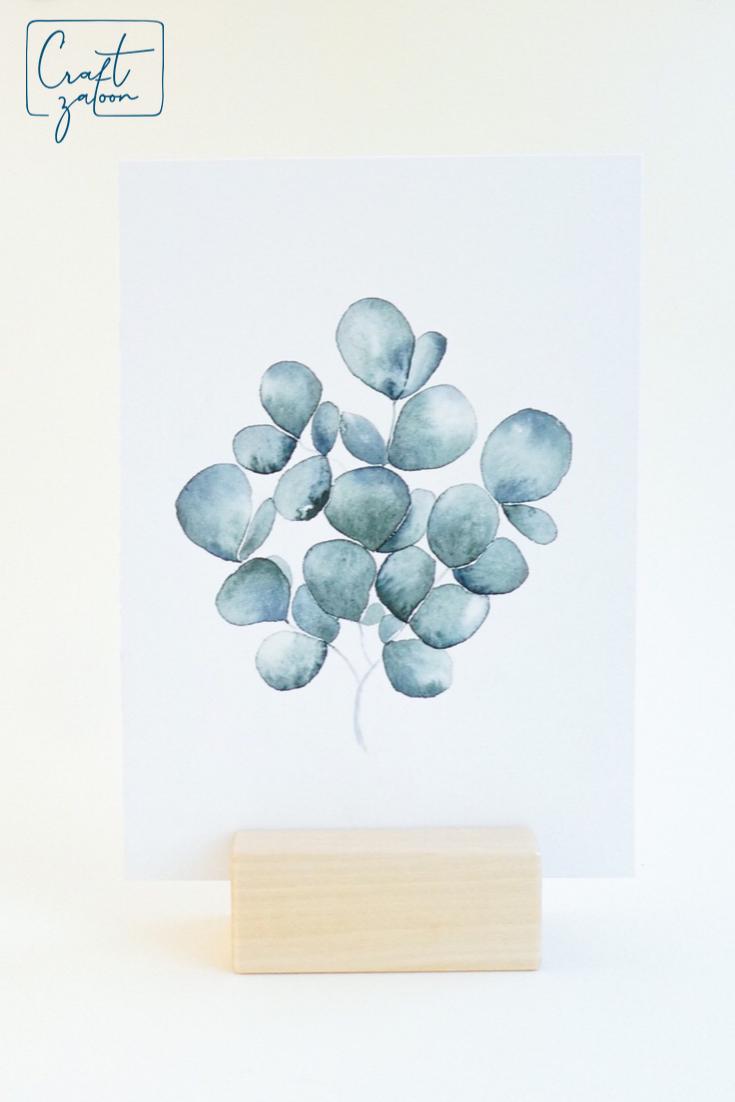 Watercolor Eukalyptus Box mit Online-Kurs  Einfach aquarell