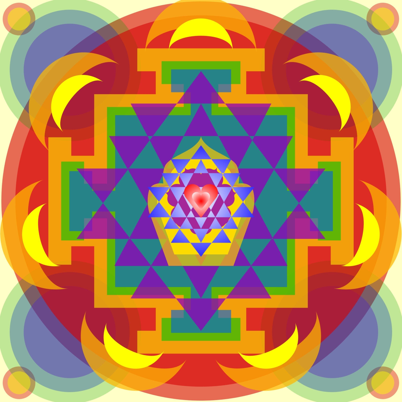 "My own Mandala Creation called ""firstheart"""