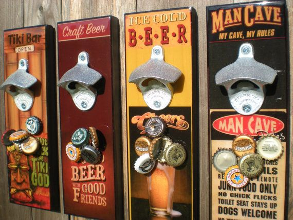 Decorative Bottle Openers Magnetic Cap Catcher Bottle Opener Beer Bottle Opener Barware