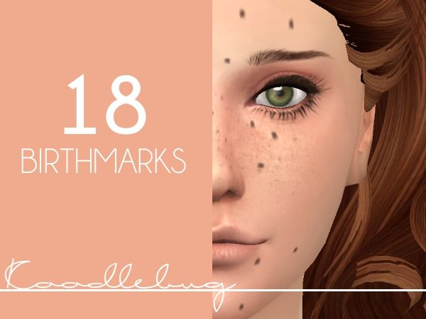 Mod The Sims - Birthmarks(18 total) [Male&Female