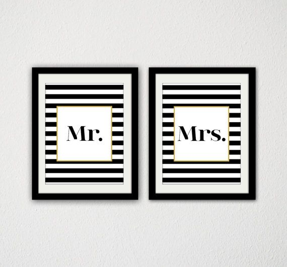 Set of 2 posters these are adorable and i love the black and white