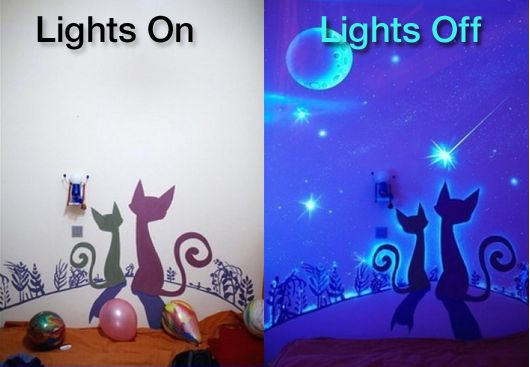How To Paint A Wall Mural With Glow In The Dark Http