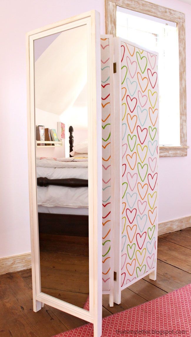 how to build a mirrored changing screen with pin boards on back knock off wood diy bloggers. Black Bedroom Furniture Sets. Home Design Ideas