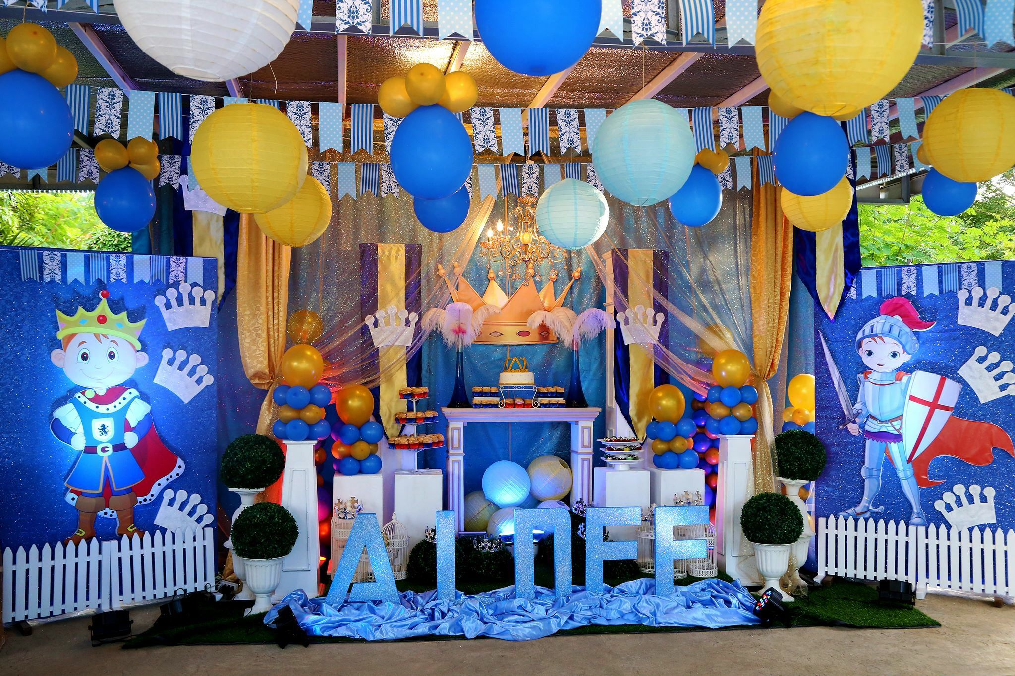 Aldee's Prince-Warrior themed 1st birthday party