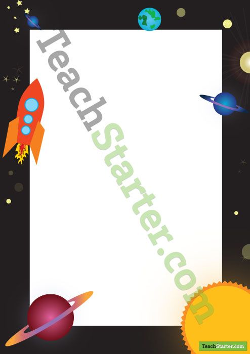 Space Page Border | Teaching Resources - Teach Starter ...