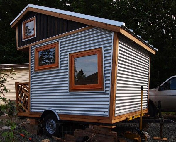 75 Sq Ft Funky Micro Cabin On Wheels Small House House On