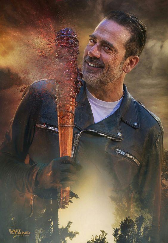 The Walking Dead Jeffrey Dean Morgan Black Real Negan Leather Jacket The Walking Dead Poster Fear The Walking Dead Walking Dead Memes