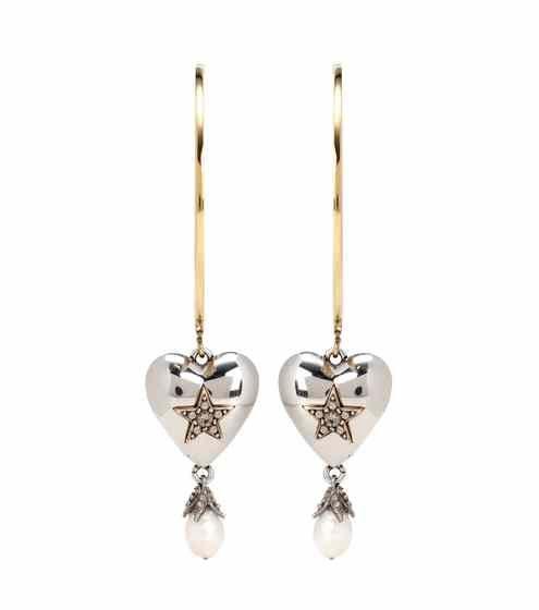 Embellished hoop earrings | Alexander McQueen