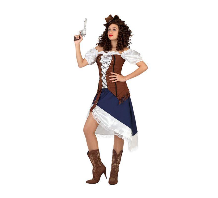 Disfraz de Vaquera del Oeste o Cowgirl para mujer. Talla M-L   38 42 ... fac64d69158