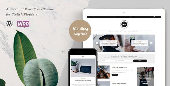 Chloe - A Personal Blog & Shop WordPress Theme   Pinterest ...