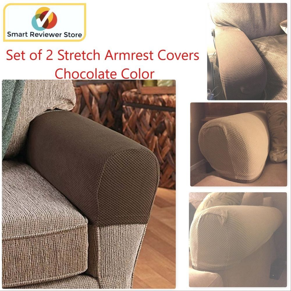 Sofa Armrest Covers Stretchy Set Of 2 Chair Or Sofa Arm Protectors