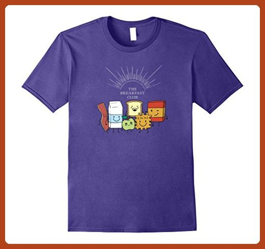 Mens The Breakfast Club Shirt Gotta have my bacon and eggs 3XL Purple - Food and drink shirts (*Partner-Link)