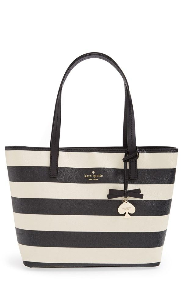 Kate Spade Striped Tote Bag | ♡ cutteee ♡ | Pinterest | Striped ...