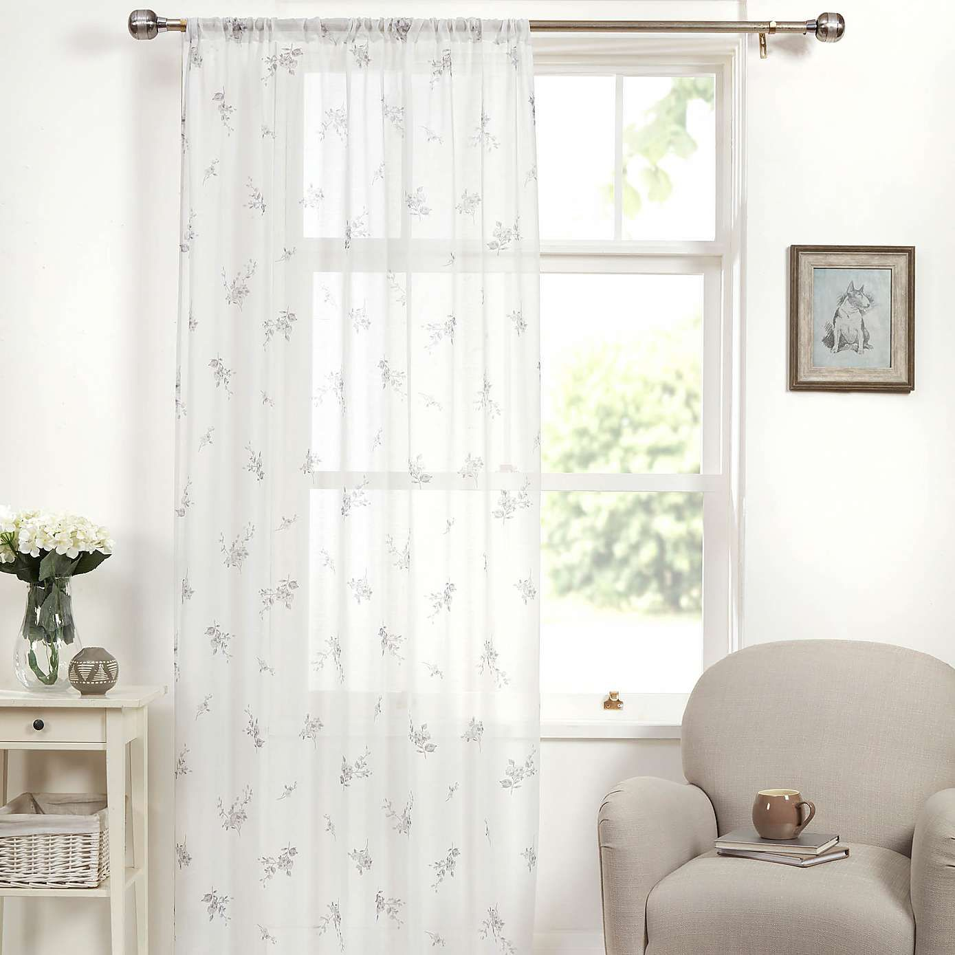Laura Grey Single Slot Top Voile Panel Voile panels
