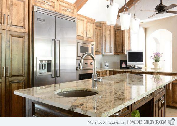 15 Different Granite Kitchen Countertops Home Design Lover Granite Kitchen Granite Countertops Kitchen Cheap Granite Countertops