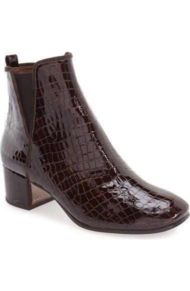 Donald J Pliner 'Cayto' Croc Embossed Chelsea Boot (Women)