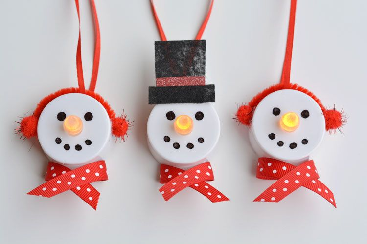 Perfect Tea Light Snowman Ornaments Amazing Ideas