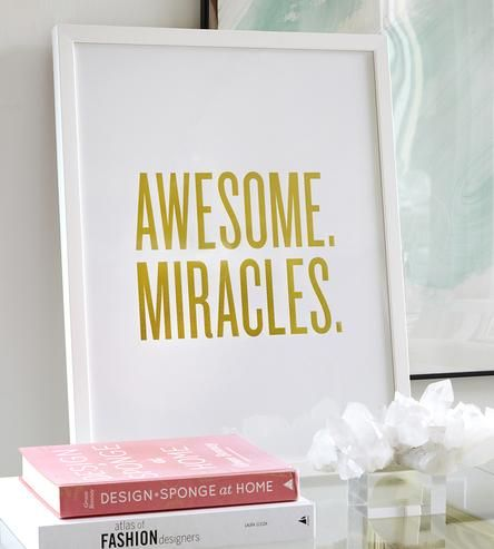 Awesome. Miracles. Framed Print Everyday there's one