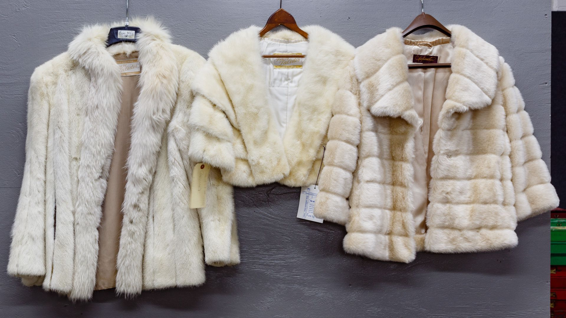 2c868b21ea19 Lot 241  Mink Fur Jacket and Stole  White mink jacket and stole by ...