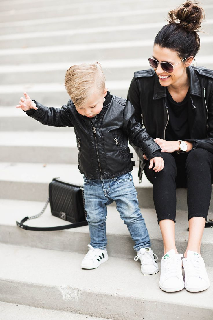 Family Leather Hello Fashion Mom And Son Outfits Boy Outfits Mommy Son Outfits [ 1104 x 736 Pixel ]