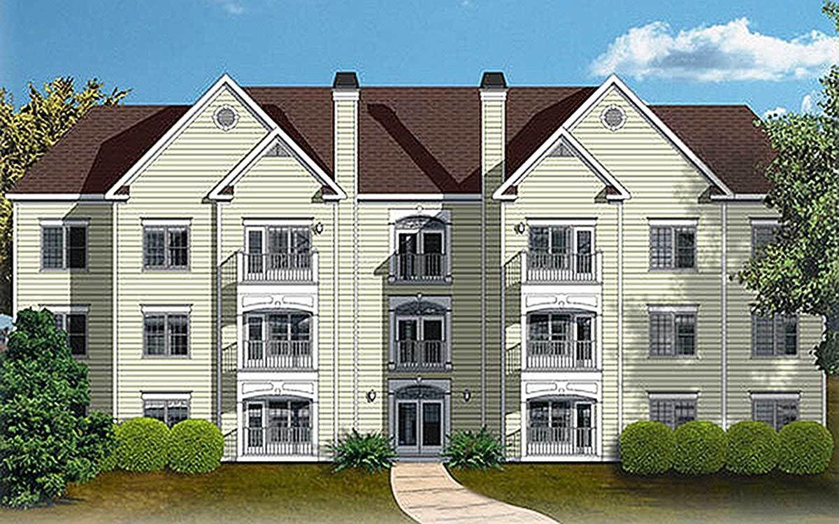 12 Unit Apartment Building Plan   Apartment entryway ...