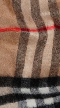 Check Felted Cashmere Scarf | Burberry