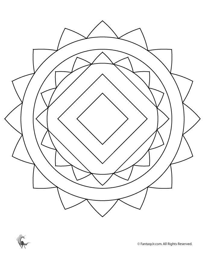 Simple Mandalas For Kids Mandala Coloring Page Fantasy Jr