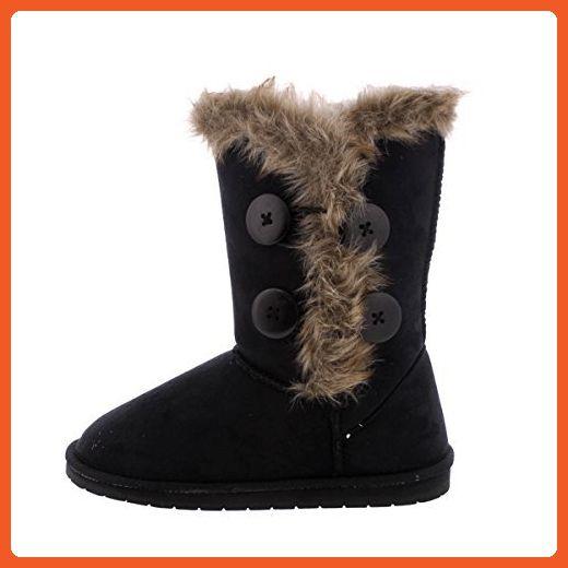 b1e1c25ea17 Glister - Women's 4 Bottom Fur Weather Boot - Black - Boots for ...