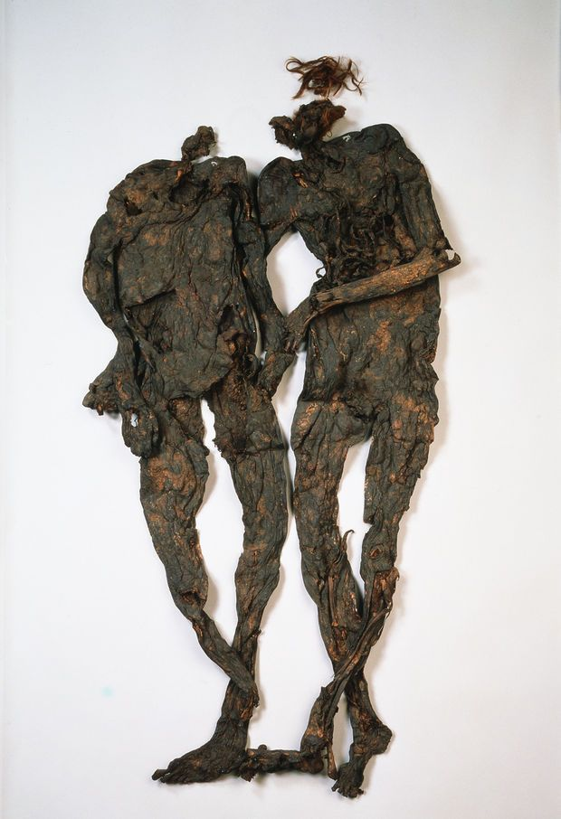 The Weerdinge Men were two naked bog bodies found in the southern part of  Bourtanger Moor in Drenthe, The Netherlands in 1904. The two likely died  between ...