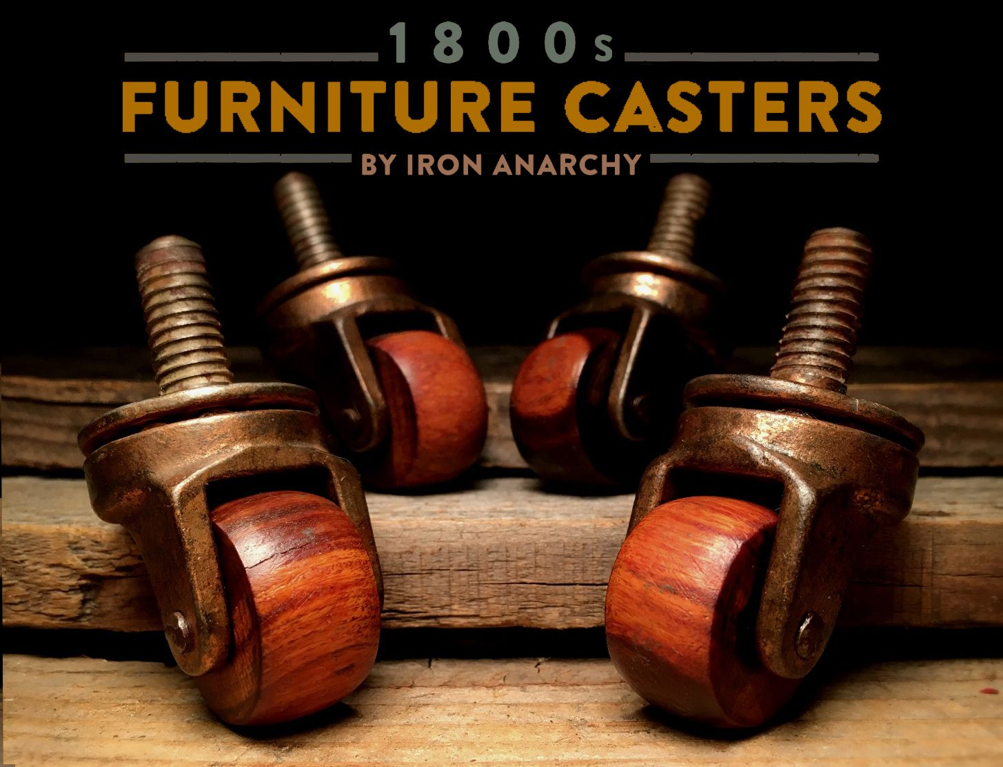 Antique table casters from IronAnarchy.com - Antique Furniture Casters