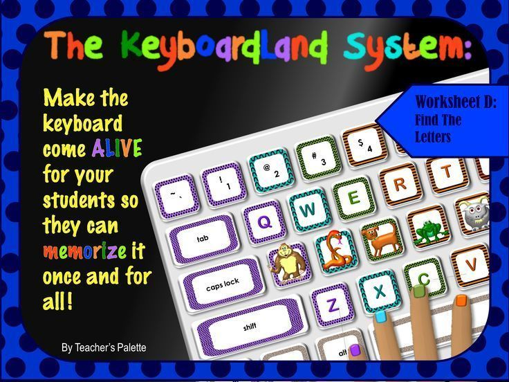 """Keyboarding Worksheet D (""""Find The Letters"""") How to"""