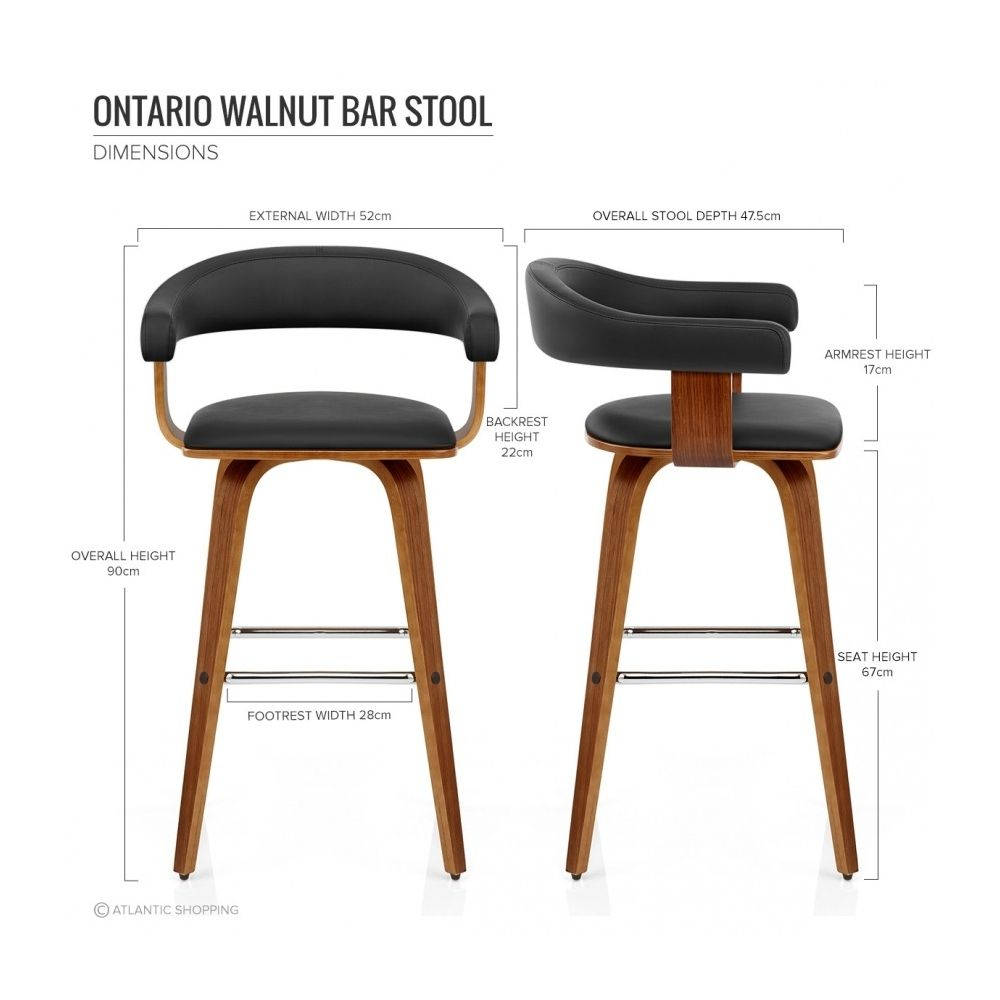 chaise de bar faux cuir bois ontario cuisine. Black Bedroom Furniture Sets. Home Design Ideas