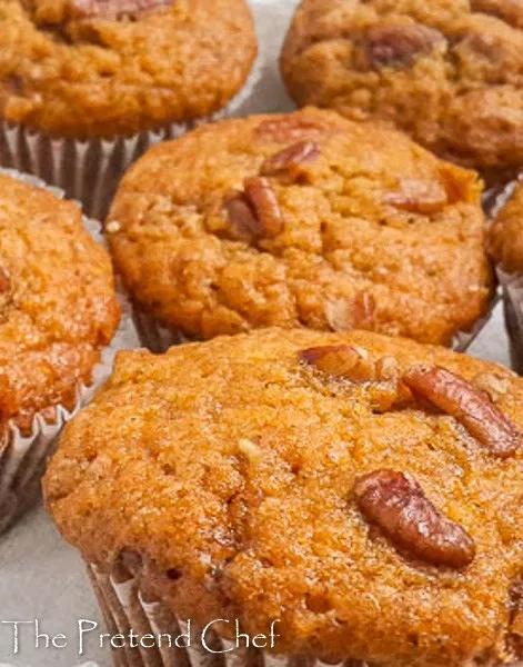 Sweet potato muffins - The Pretend Chef