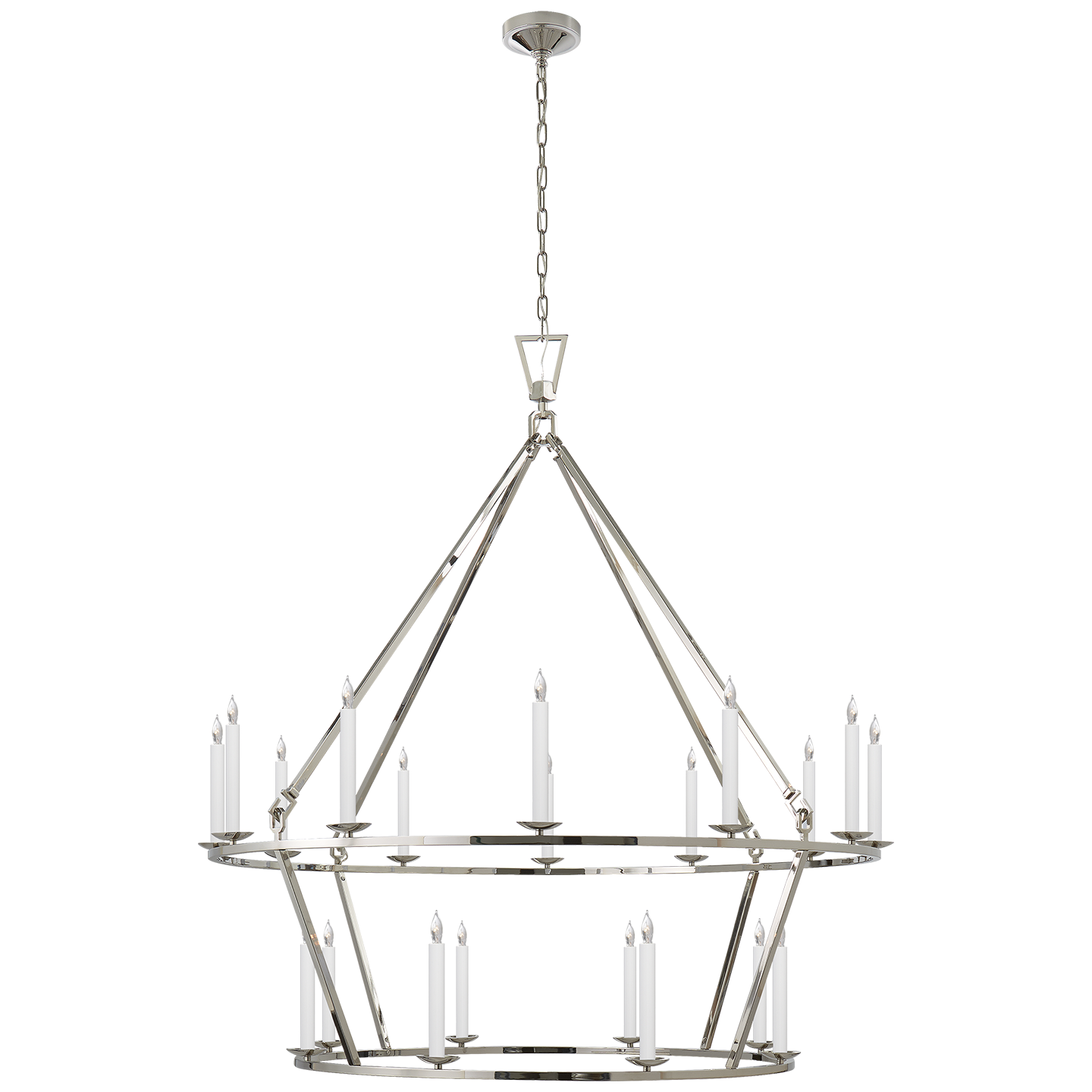 Darlana Extra Two Tier Chandelier in Aged Iron