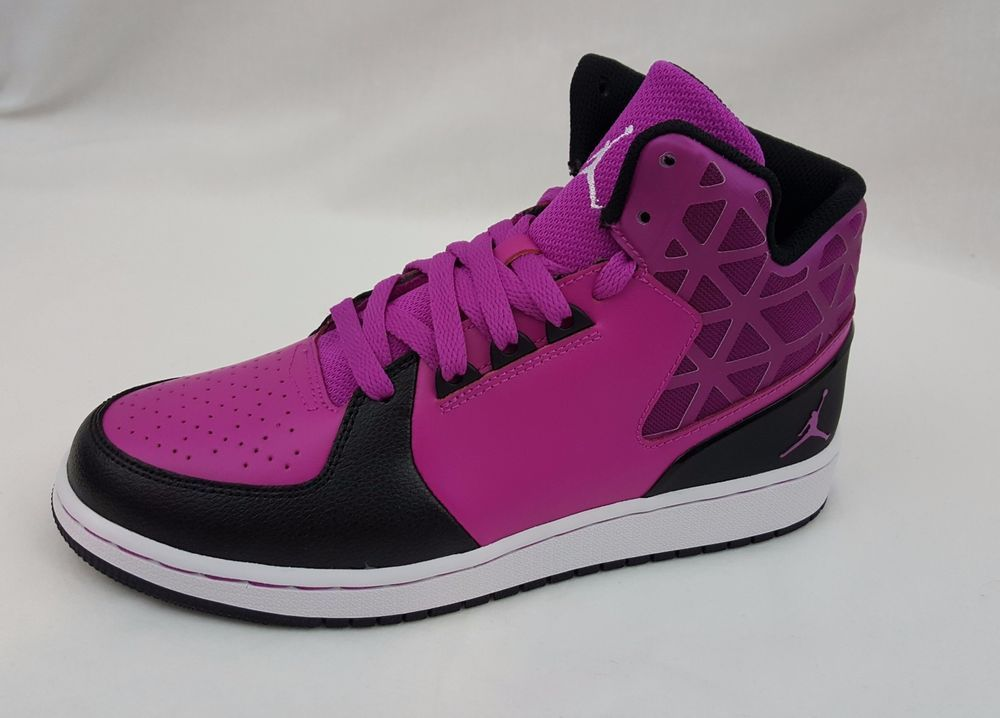 new concept 09279 968e0 Nike Air Jordan 1 Flight 3 Basketball Purple Black Shoes ...