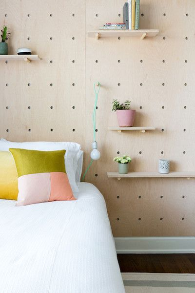 Pegboard Wall | Bedroom Decor Ideas | Pinterest | Headboard ...