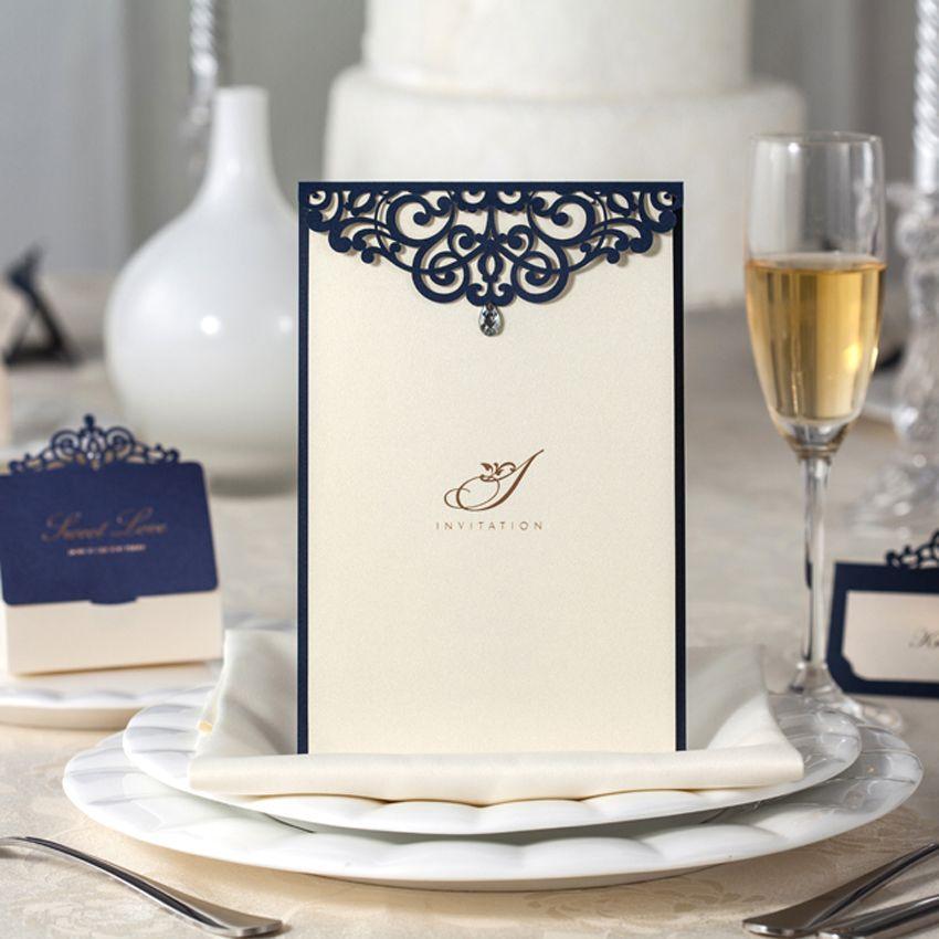 Frete grátis 10 pcs Laser Cut convites de Casamento / Menu Wishmade Convite Casamento Event & fontes do partido CM502 em Decoração de festa de Casa & jardim no AliExpress.com   Alibaba Group