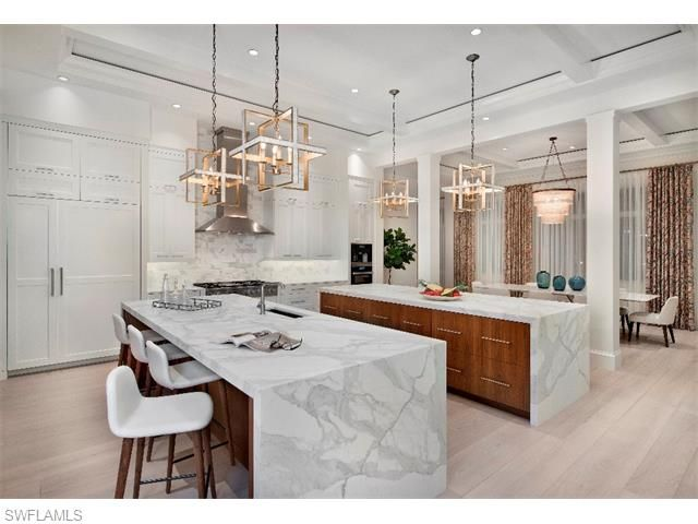 290 North Lake Dr, Naples, FL 34102 | Stunning Double Island Kitchen With  Contemporary