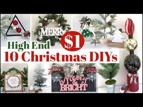 New 10 Dollar Tree Christmas Diys 2020 High End Christmas Decorating Ideas In 2020 Dollar Tree Christmas Christmas Tree Decorations Diy Dollar Tree Christmas Decor