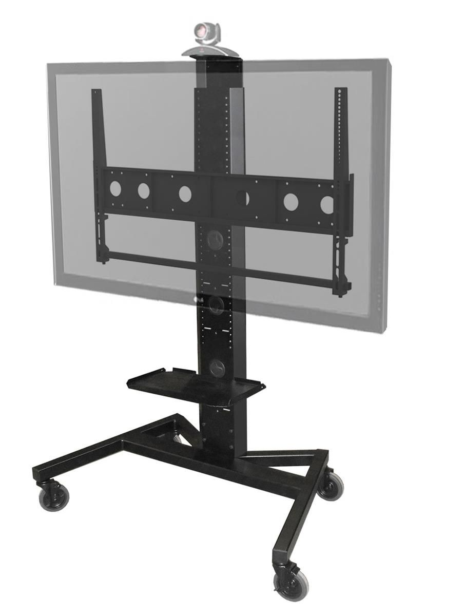 Office Tv Stand With Camera Mounting Tray For Video Conferencing Holds Extra Large Screens Includes Caster Wheels An Soporte Para Televisor Muebles Televisor