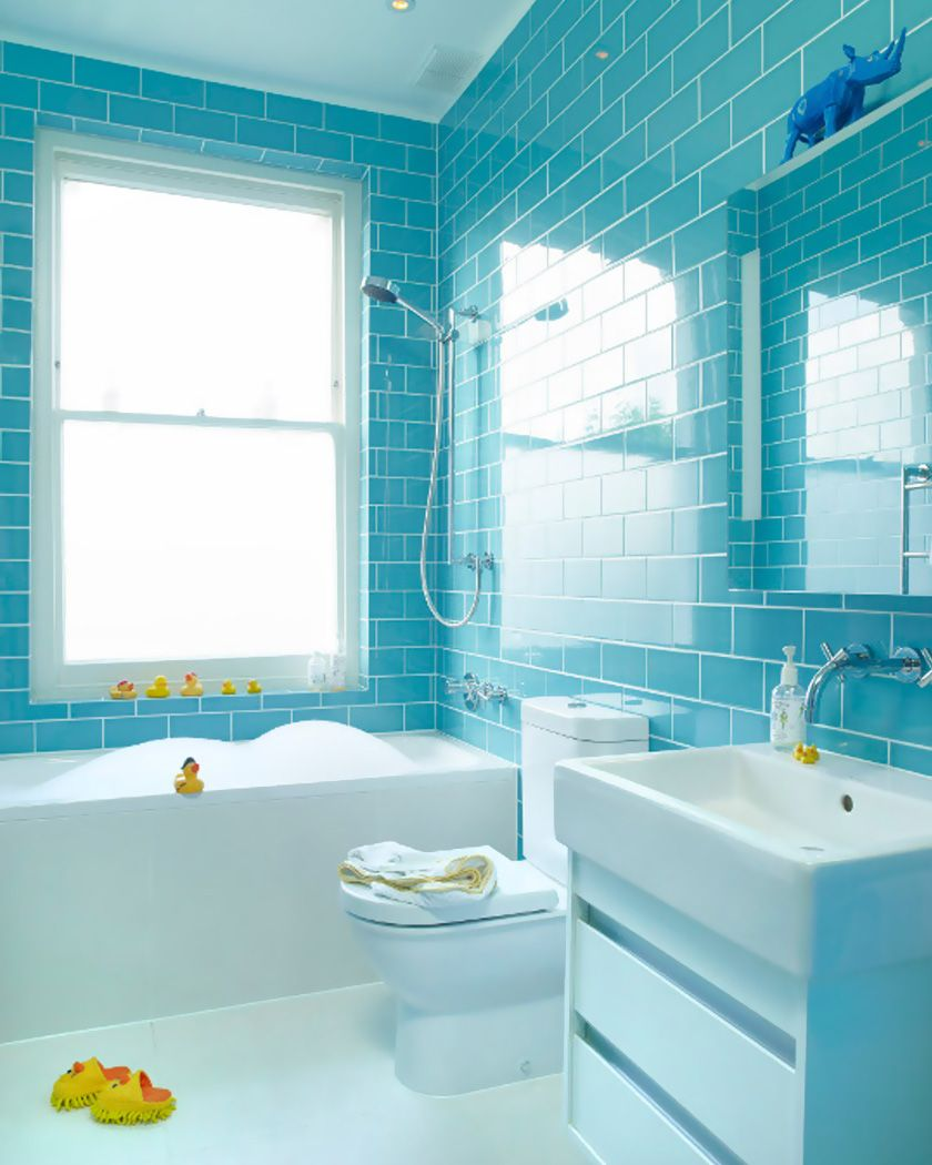 Carrelage Salle De Bain Bleu Turquoise utiliser le carrelage métro dans la salle de bain