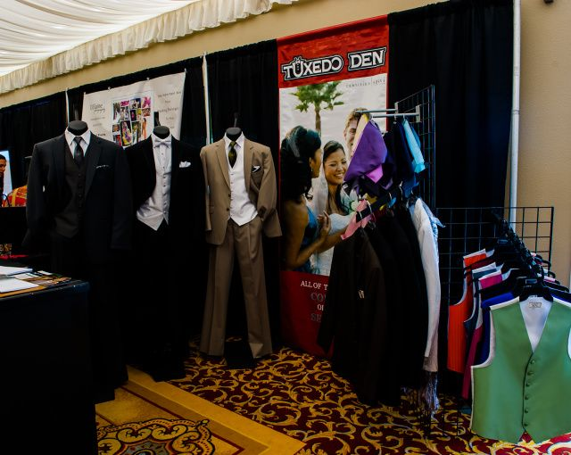 Tuxedo Den exhibit at Folsom Bridal Show 2012