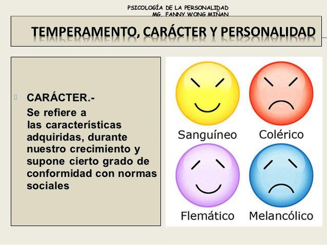 Diferencias entre personalidad temperamento y car cter