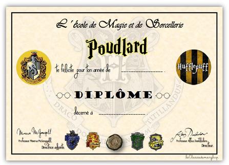 inégale en performance comment avoir nouveaux prix plus bas Diplôme Harry Potter à imprimer en 2019 | Harry potter ...